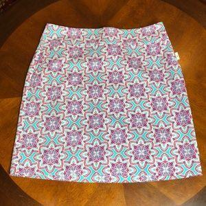 Talbots Geometric Pencil Skirt Size 8 NWT